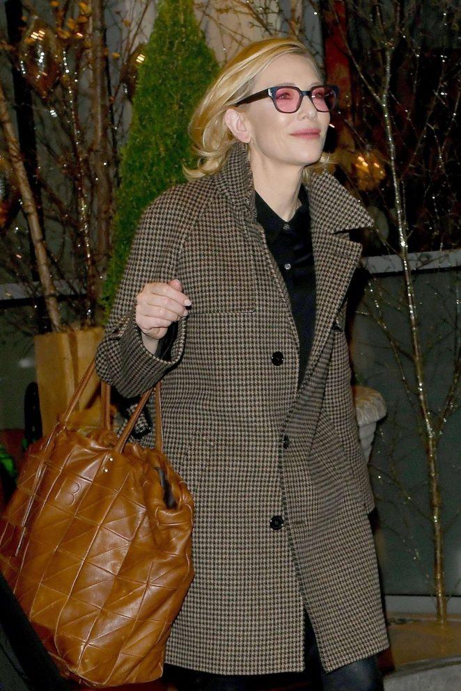 Cate Blanchett – Leaving Soho House in London