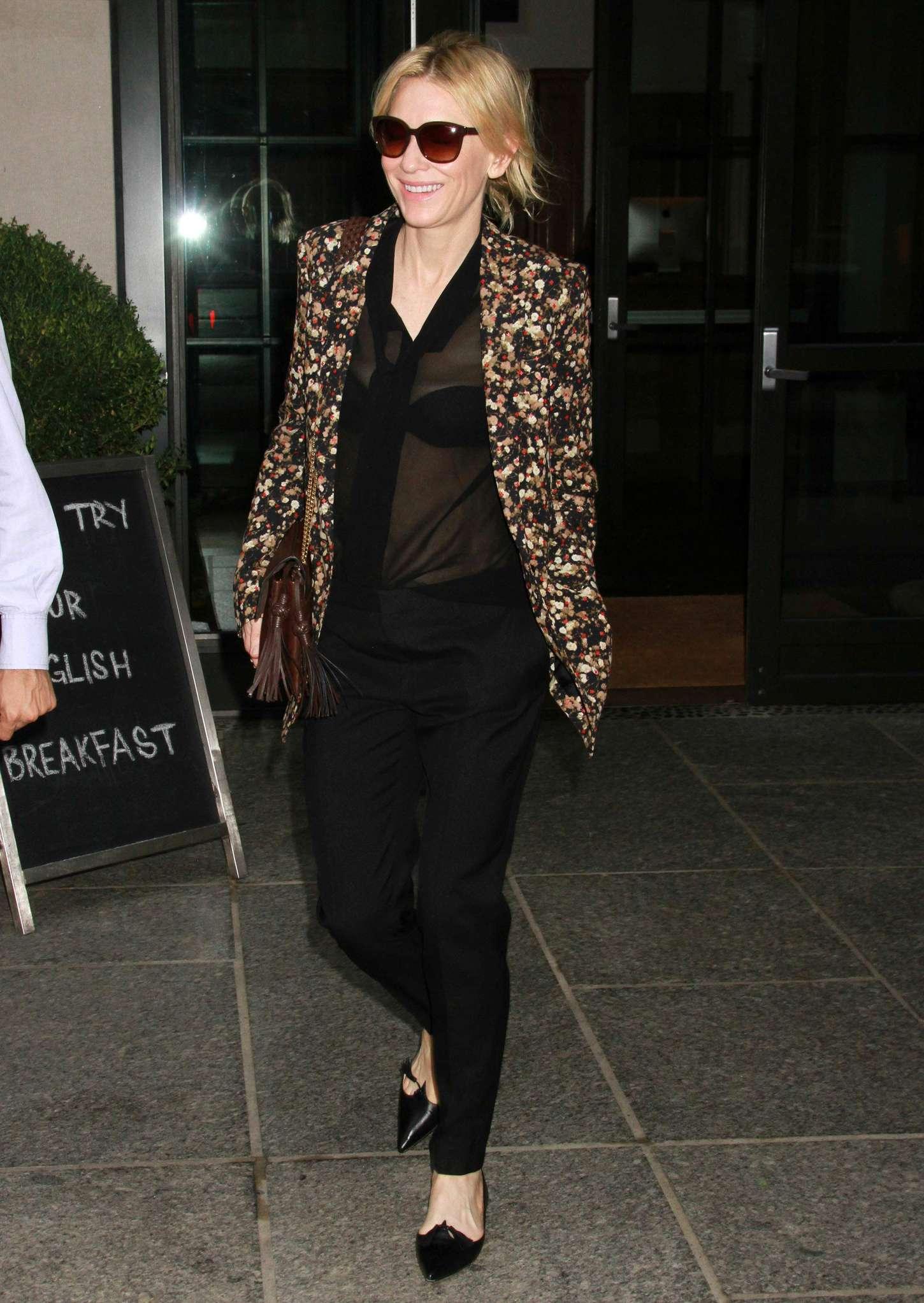 Cate Blanchett 2015 : Cate Blanchett out in New York City -09