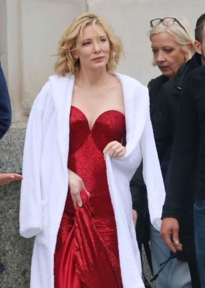 Cate Blanchett - Shoot a new campaign for Giorgio Armani in Barcelona