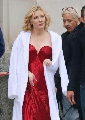 Cate Blanchett - Shoot a new campaign for Giorgio Armani in Barcelona