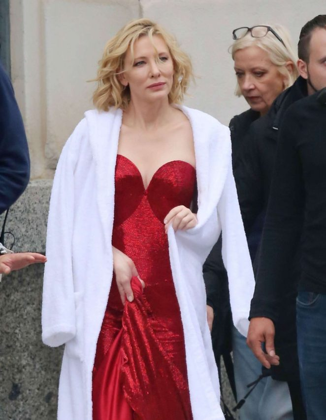Cate Blanchett – Shoot a new campaign for Giorgio Armani in Barcelona