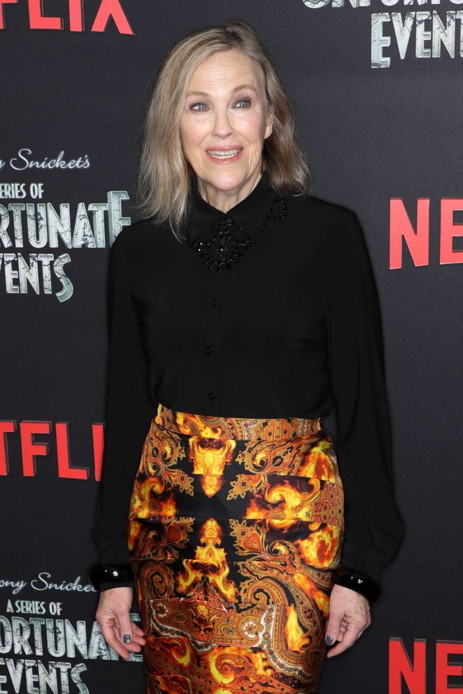 Catherine O'Hara - 'A Series of Unfortunate Events' Premiere in New York