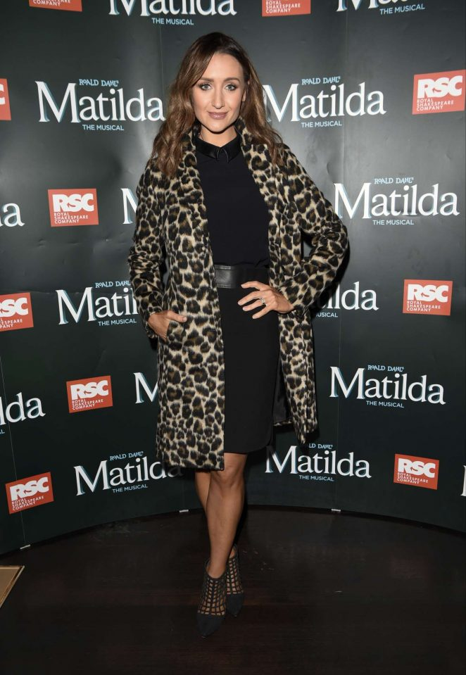 Catherine Tyldelsey - Press night for Matilda in Manchester