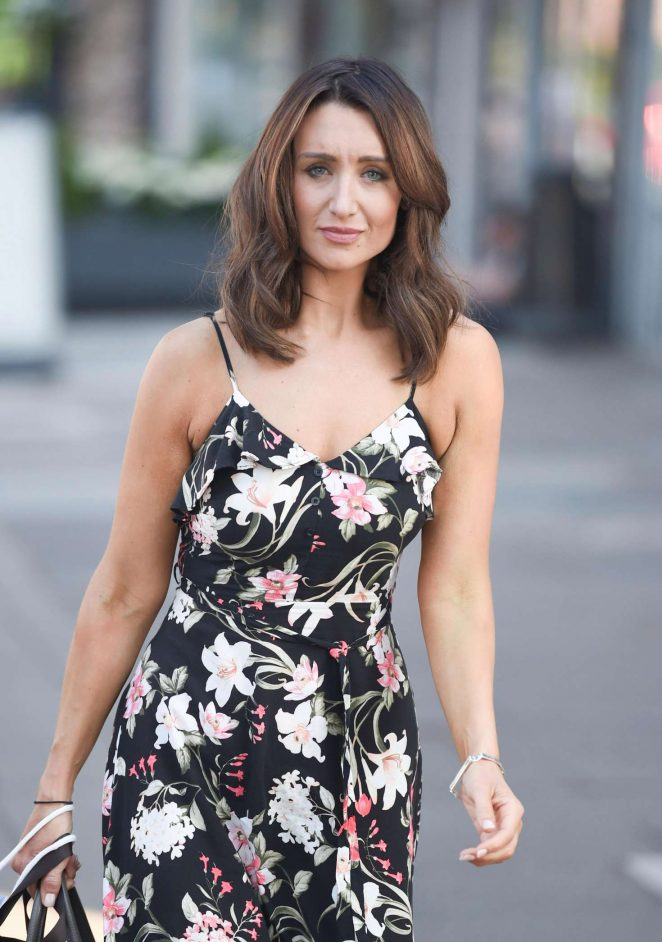 Catherine Tyldesley - Leaving Terance Paul Salon in Manchester