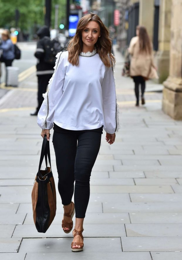Catherine Tyldesley - Out for Lunch at Peter Street Kitchen Restaurant in Manchester