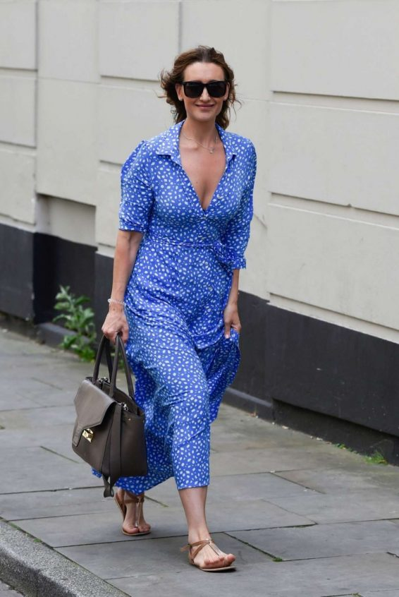 Catherine Tyldesley - Out for lunch at The Assouline Library in in Manchester