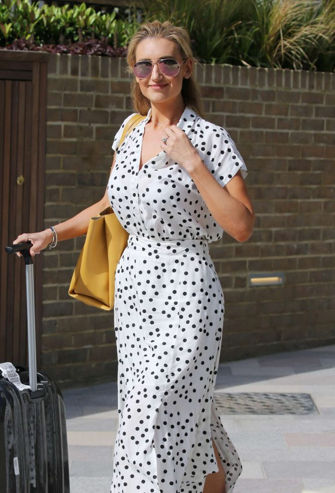 Catherine Tyldesley - Outside ITV Studios in London