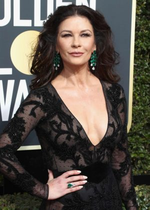Catherine Zeta-Jones - 2018 Golden Globe Awards in Beverly Hills