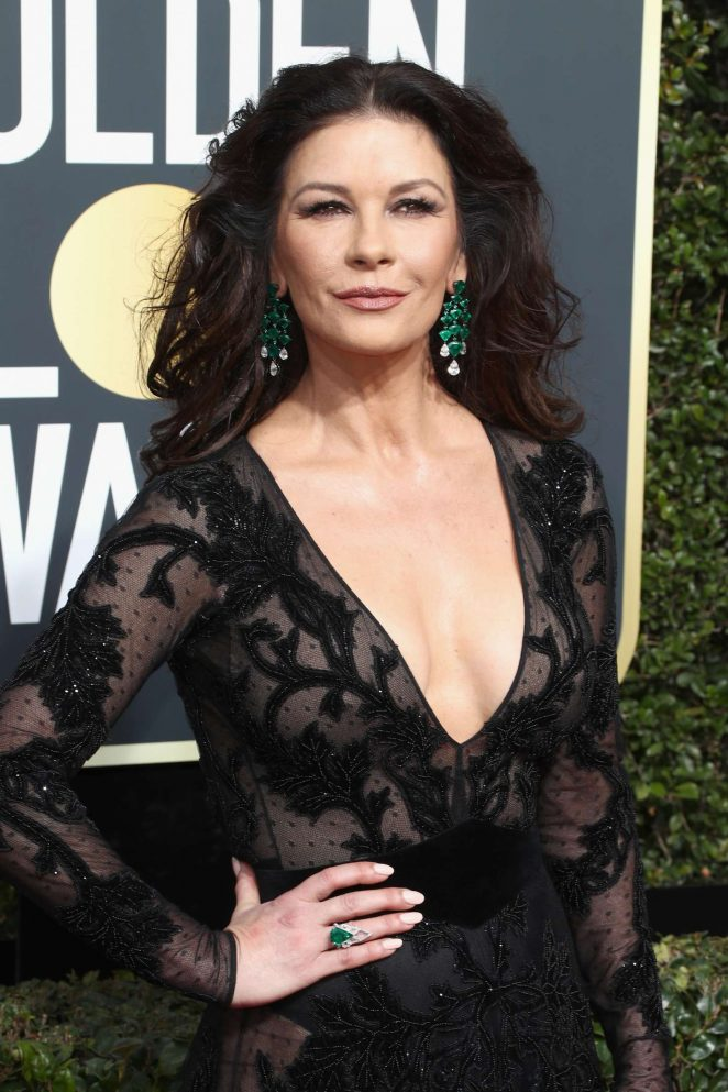 Catherine Zeta-Jones - 2018 Golden Globe Awards in Beverly Hills