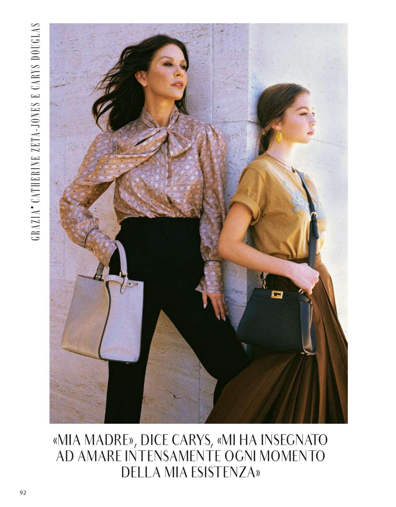 Catherine Zeta-Jones and Carys Zeta Douglas - Grazia Italy Magazine (October 2019)