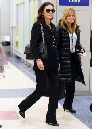 Catherine Zeta Jones - Arrives at JFK Airport in New York