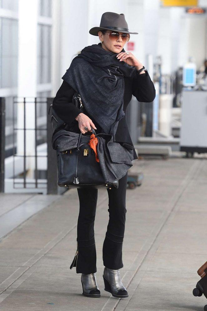 Catherine Zeta Jones – Arrives at JFK airport in New York