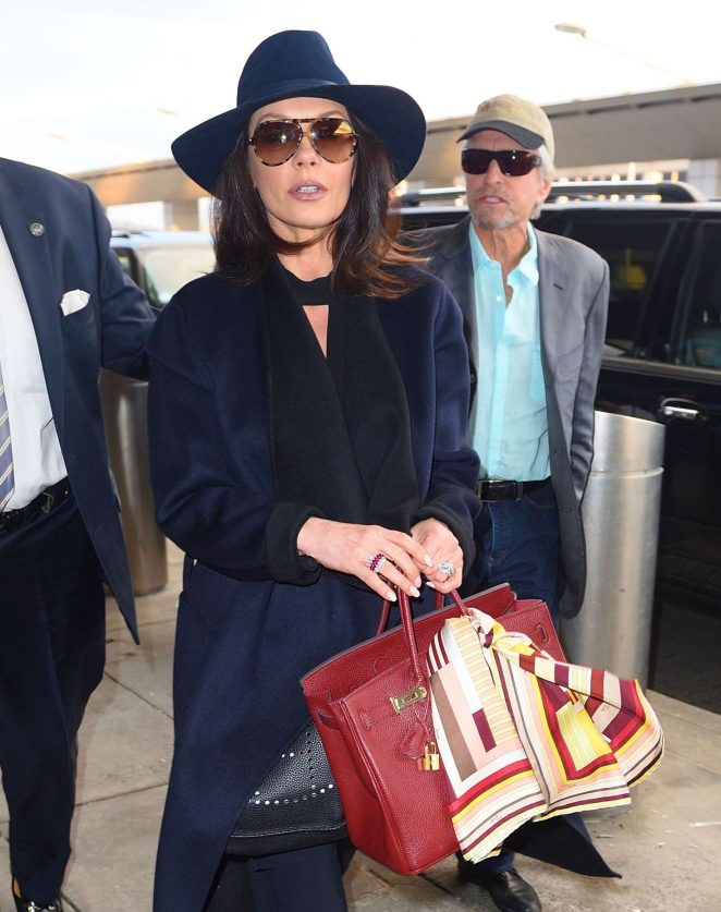Catherine Zeta-Jones - Arrives at JFK airport in New York