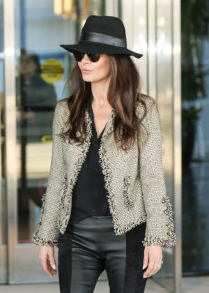 Catherine Zeta-Jones - Arriving at JFK Airport in New York