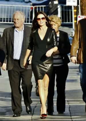 Catherine Zeta-Jones - Arriving at Jimmy Kimmel Live! in LA