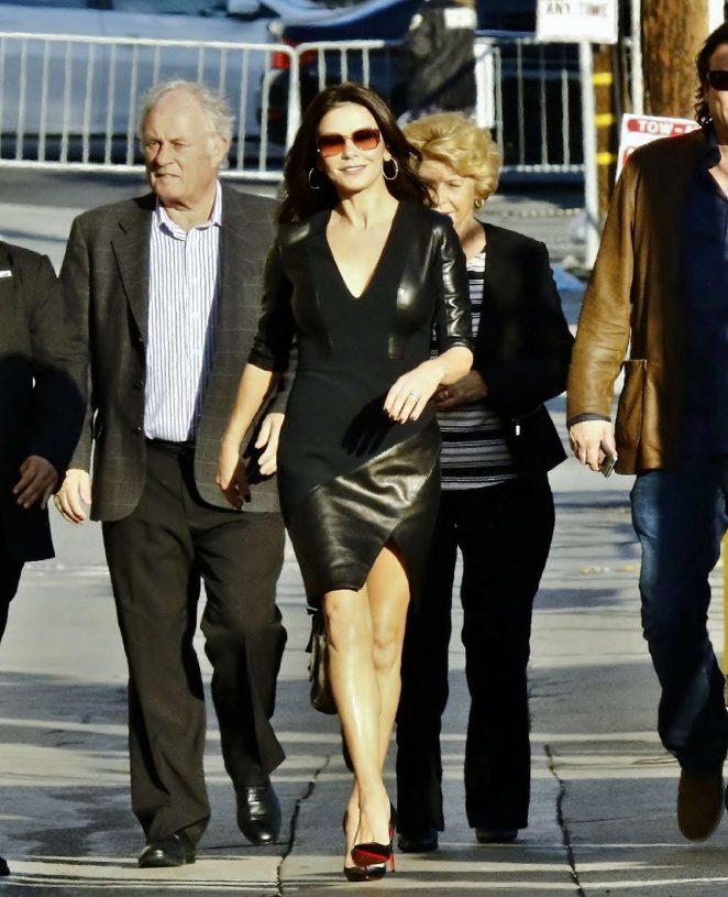 Catherine Zeta-Jones - Arriving at Jimmy Kimmel Live! in LA