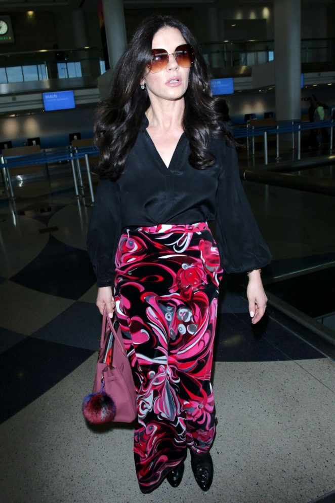 Catherine Zeta Jones - Arriving at LAX Airport in LA