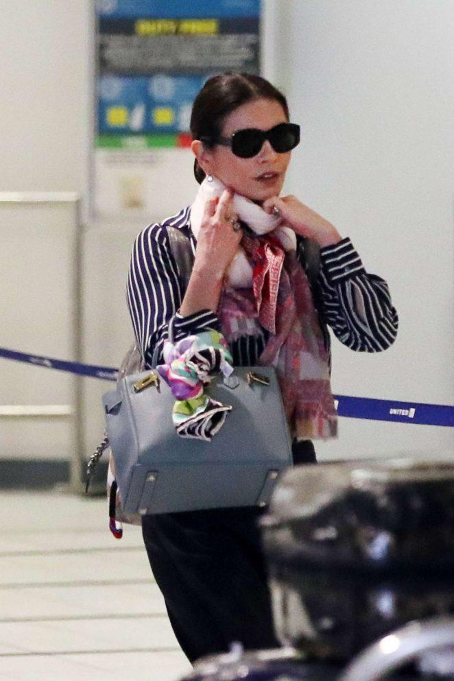 Catherine Zeta-Jones Arriving in New York City