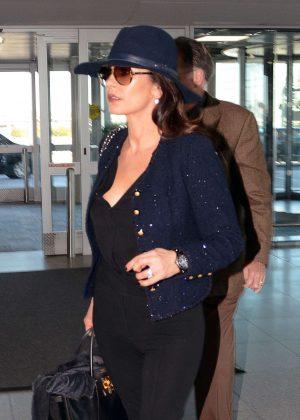 Catherine Zeta Jones at JFK Airport in NYC