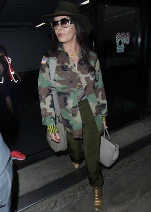 Catherine Zeta Jones at LAX International Airport in LA