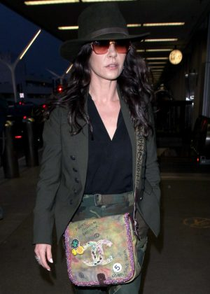 Catherine Zeta-Jones at Los Angeles International Airport