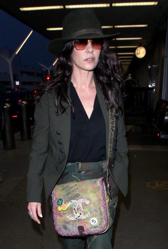 Catherine Zeta-Jones at Los Angeles International Airport