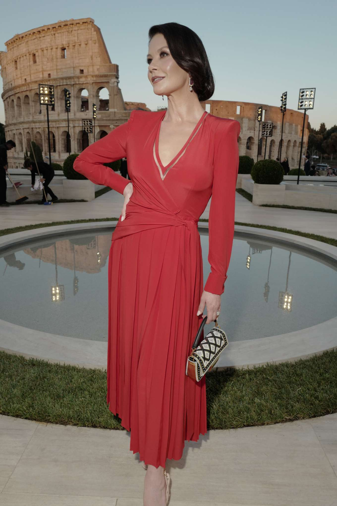 Catherine Zeta-Jones - Cocktail and Fendi Couture Fall Winter 2019-2020 in Rome
