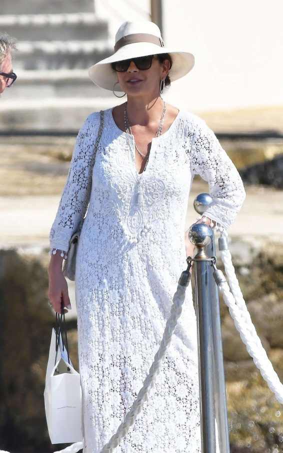 Catherine Zeta Jones on holiday in France