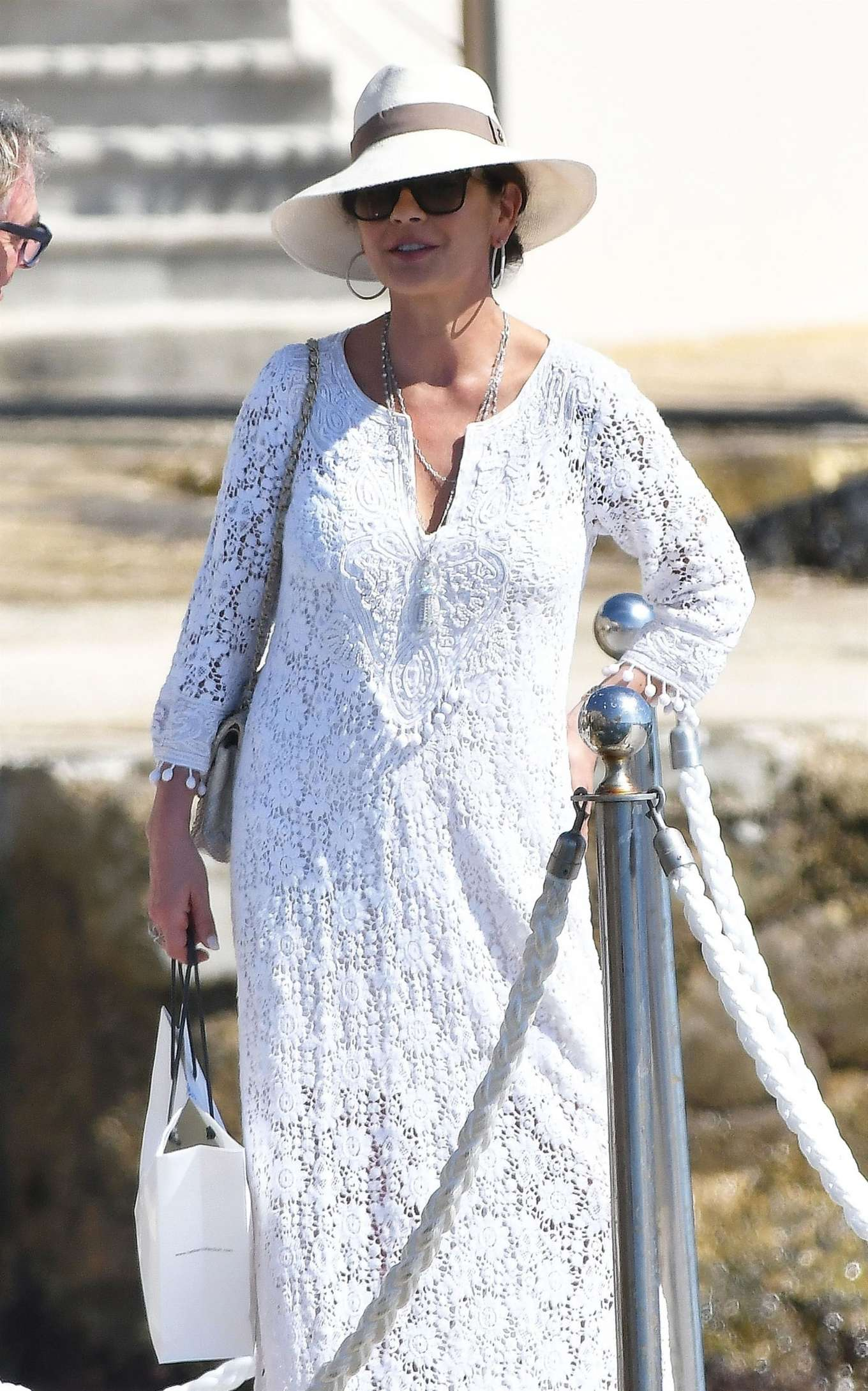 Catherine Zeta Jones on holiday in France