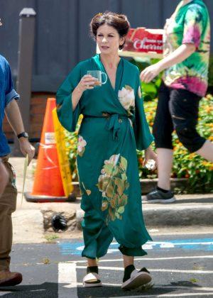 Catherine Zeta Jones - On the set of 'Queen America' in Atlanta