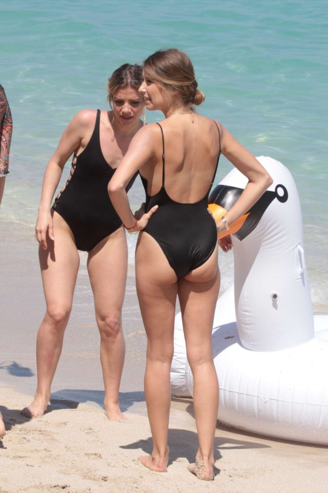 Cathy Hummels and Vanessa Fischer in Swimsuits in Miami