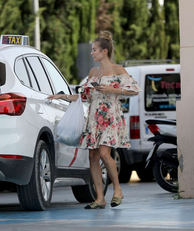 Cathy Hummels in Summer Dress - Out in Ibiza