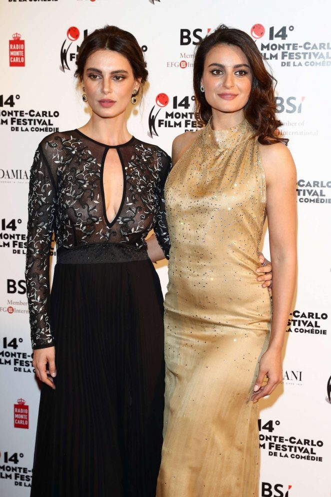 Catrinel and Lorena Menghia – Monte Carlo Film Festival of the Comedy Gala Dinner in Monaco