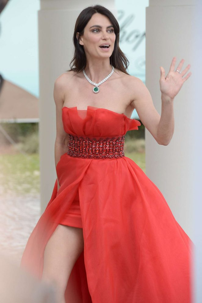 Catrinel Menghia in Red Dress in Cannes