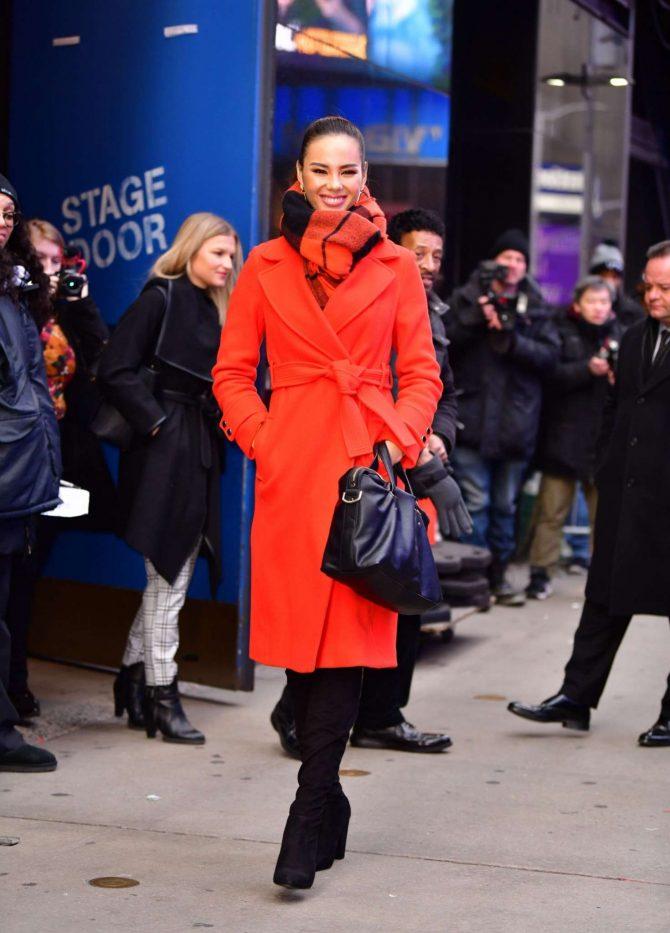 Catriona Gray - Leaving 'Good Morning America' in New York City