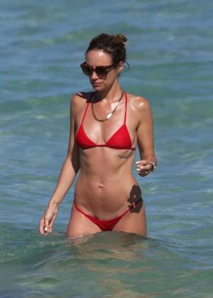 Catt Sadler in Red Bikini -01