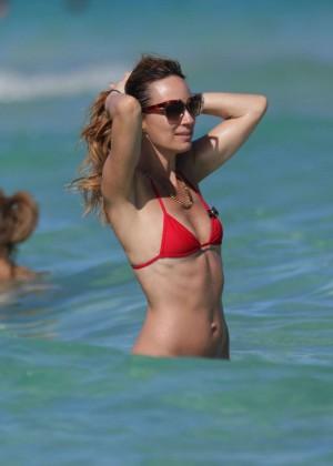 Catt Sadler in Red Bikini -03
