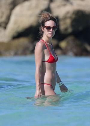Catt Sadler in Red Bikini -05