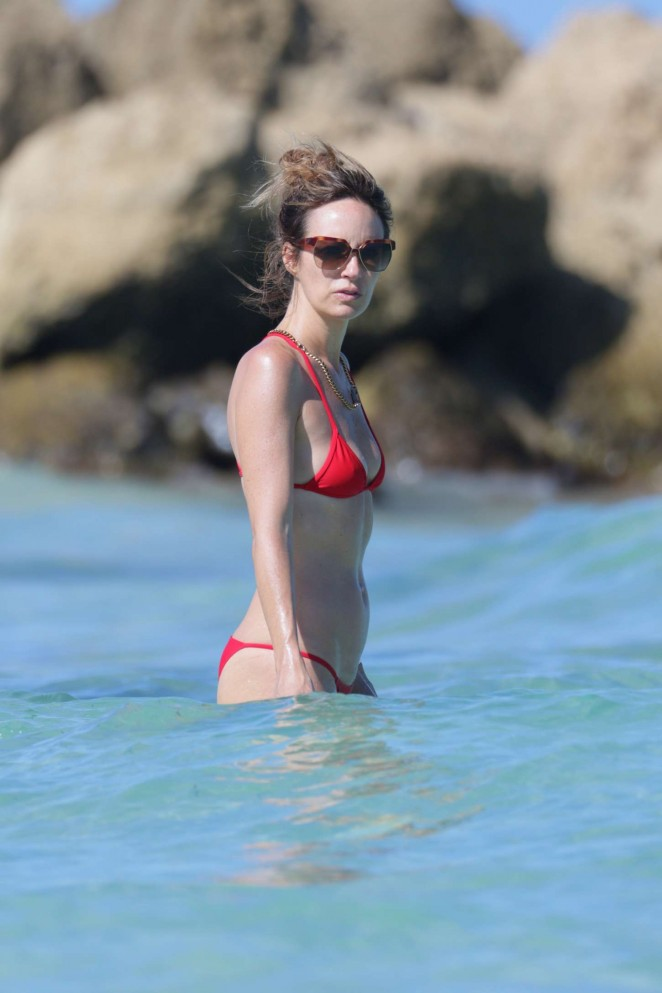 Catt Sadler in Red Bikini -06