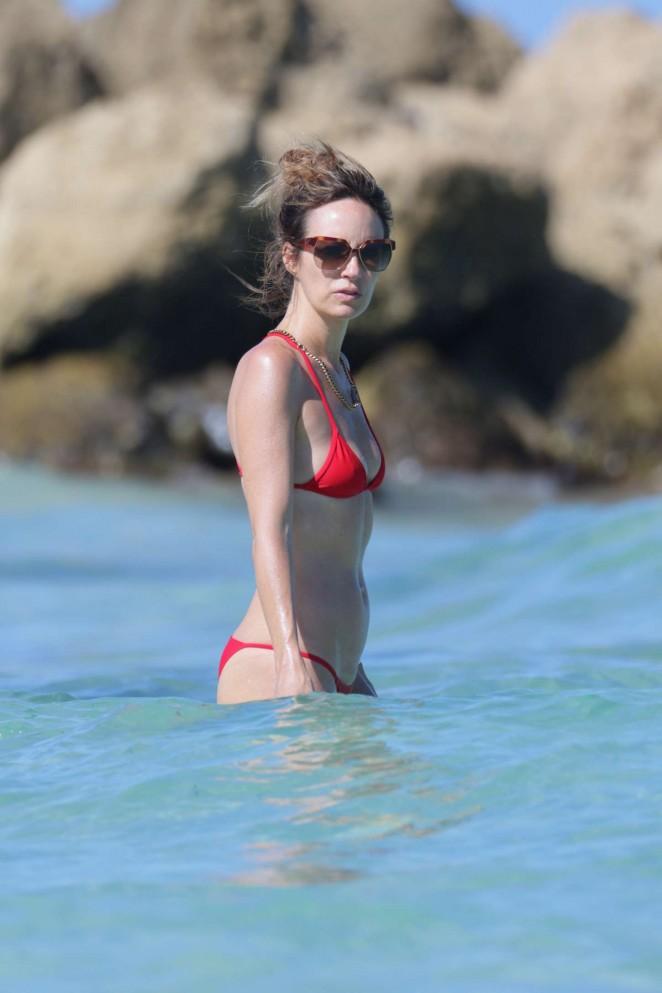 Catt Sadler in Red Bikini -06