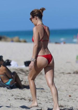 Catt Sadler in Red Bikini -07