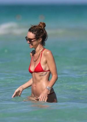 Catt Sadler in Red Bikini -08