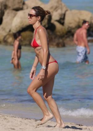 Catt Sadler in Red Bikini -09