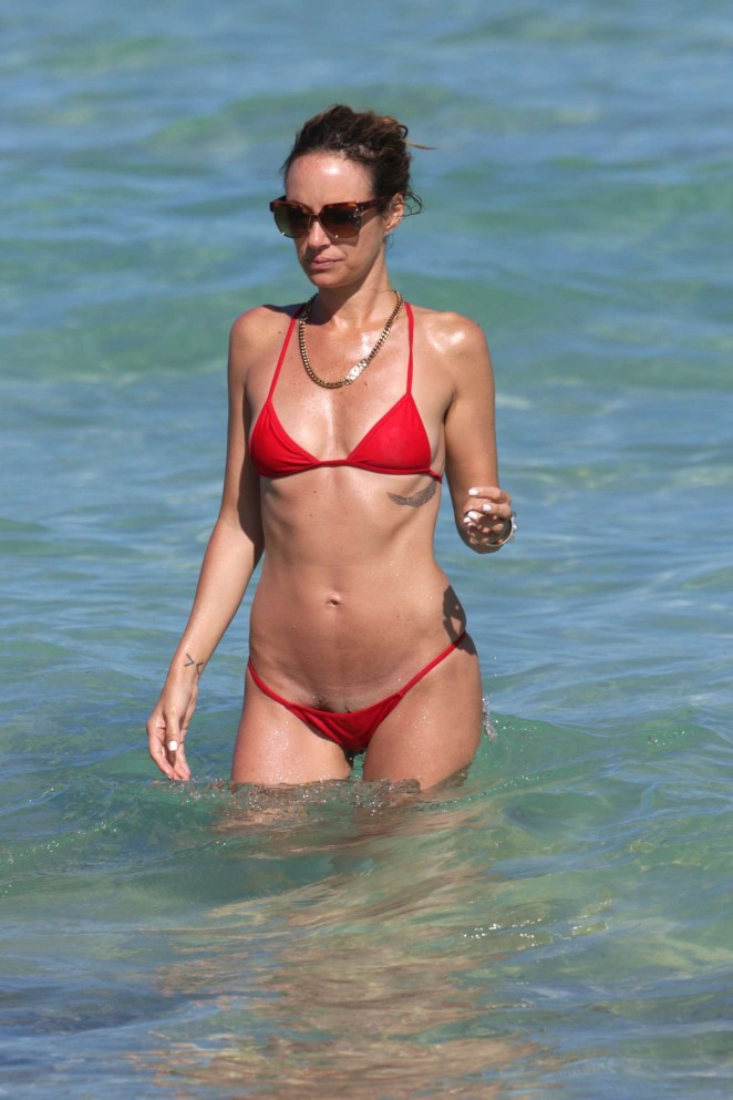 Catt Sadler in Red Bikini -10
