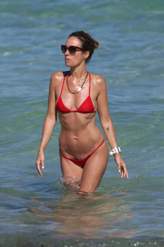 Catt Sadler in Red Bikini -11