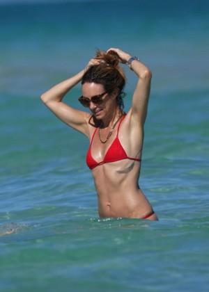Catt Sadler in Red Bikini -13