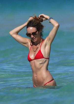 Catt Sadler in Red Bikini -15