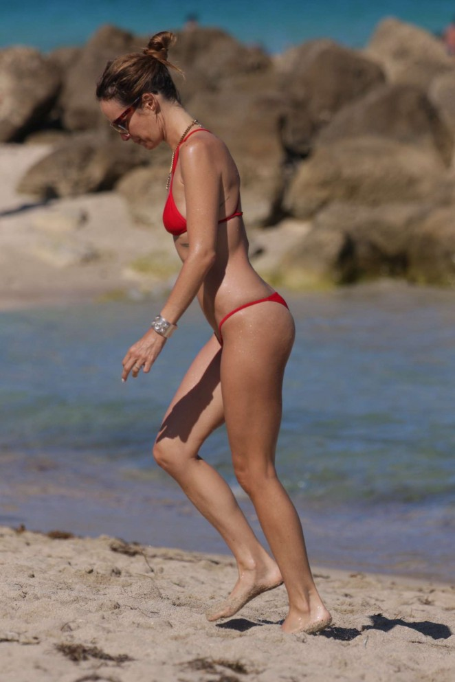 Catt Sadler in Red Bikini -16