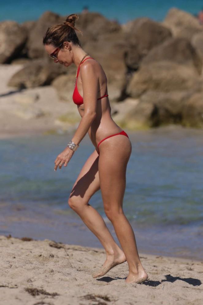 Catt Sadler in Red Bikini -16