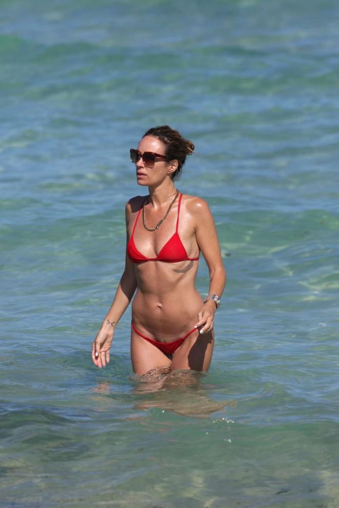 Catt Sadler in Red Bikini -17